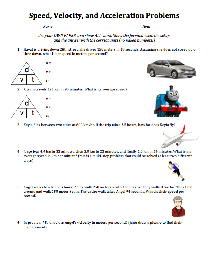 Speed, Velocity, and Acceleration practice video