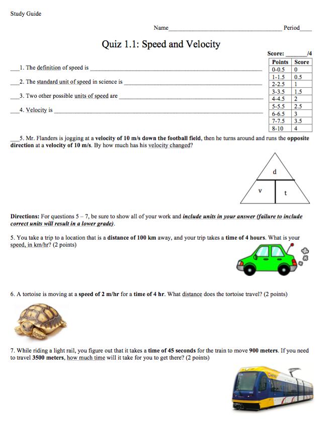 Quiz 1.1 Study Guide